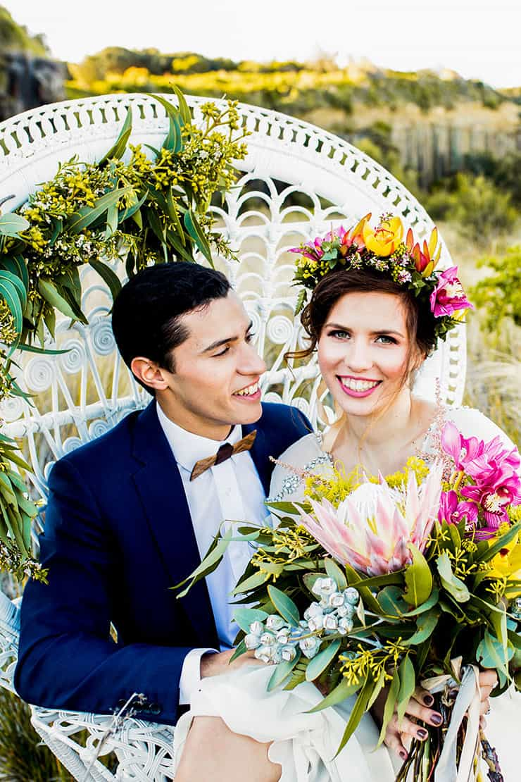 Wild and Bright Boho Wedding Inspiration | Ainslee Burke Photography