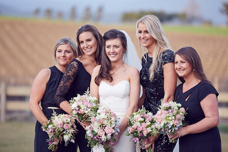 Winter-Barn-Wedding-Bride-Bridesmaids