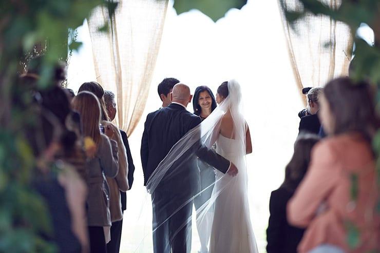 Winter-Barn-Wedding-Ceremony-Bride-Father